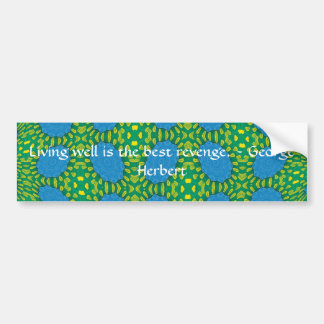 George Herbert Quote With Wonderful Design Bumper Sticker