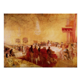 George IV at banquet in Edinburgh by Joseph Turner Poster