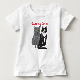 George & Lucas cats baby romper Baby Bodysuit