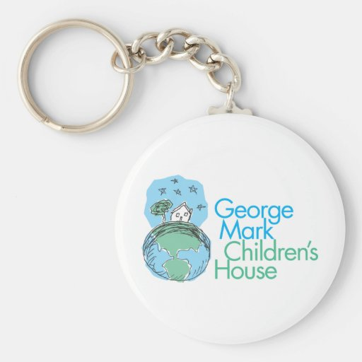 George Mark Children's House Basic Round Button Key Ring