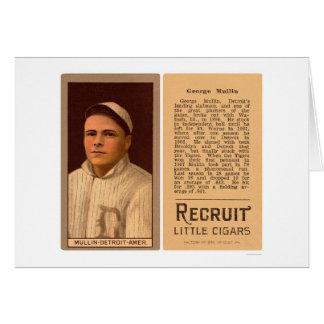 George Mullin Tigers Baseball 1912 Card