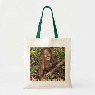 George Orangutan Dirty Mouth Budget Tote Bag