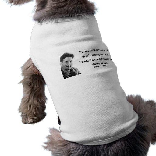 George Orwell Quote 1b Sleeveless Dog Shirt