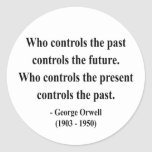 George Orwell Quote 2a Classic Round Sticker