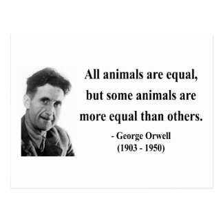 George Orwell Quote 3b Postcard