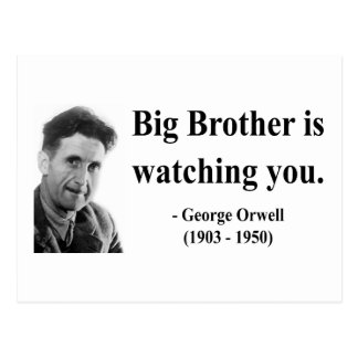 George Orwell Quote 5b Post Card