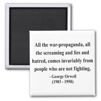 George Orwell Quote 6a Square Magnet