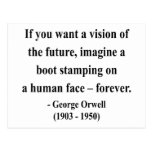 George Orwell Quote 9a Post Card