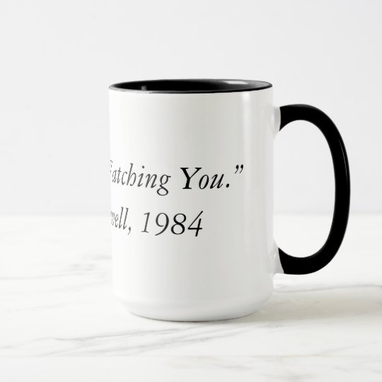 George Orwell quote from 1984 Two Tone Coffee