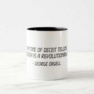 George Orwell Quote Two-Tone Coffee Mug