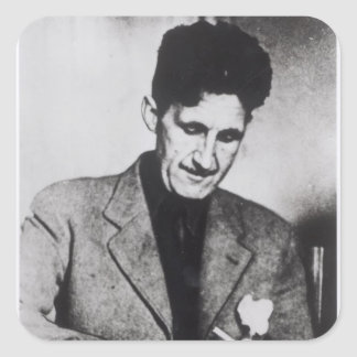 George Orwell Square Sticker