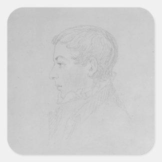 George Parker Bidder, 1819 Square Sticker