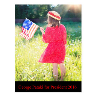 George Pataki for President 2016 Postcard
