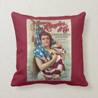 George Ringler & CO. Beer Poster Cushion