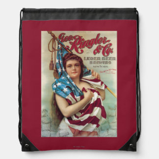 George Ringler & CO. Beer Poster Drawstring Bag
