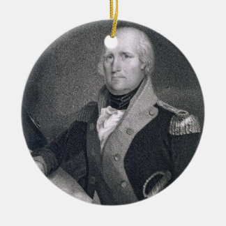 George Rogers Clark (1752-1818) engraved by Thomas Round Ceramic Decoration