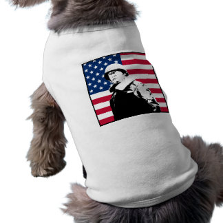 George S. Patton Jr. and The American Flag Sleeveless Dog Shirt