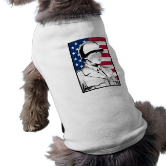 George S. Patton Jr and The U.S. Flag Pet Tshirt