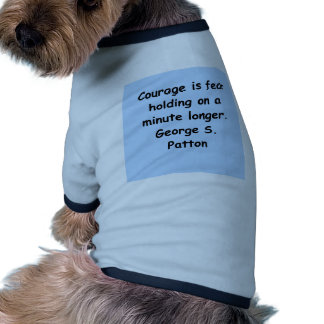 george s patton quote doggie shirt