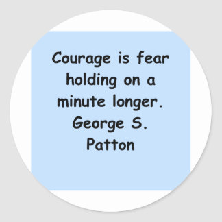 george s patton quote round sticker