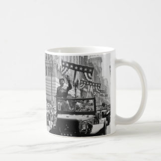 George S. Patton Waving at a Welcome Home Parade Basic White Mug