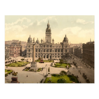 George Square, Glasgow, Scotland Postcard