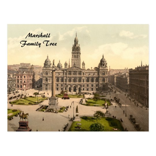 George Square, Glasgow, Scotland Postcard