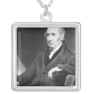 George Stephenson, engraved by Charles Turner Silver Plated Necklace