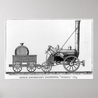 George Stephenson s Locomotive Rocket 1829 Print