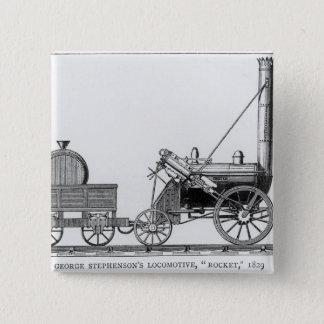 George Stephenson's Locomotive, 'Rocket', 1829 15 Cm Square Badge