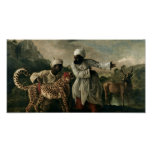 George Stubbs - Cheetah with two Indian servants Poster
