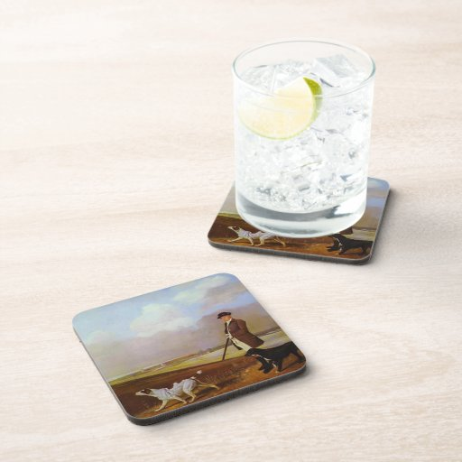 George Stubbs-John Nelthorpe Shooting with Dogs Drink Coasters