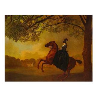 George Stubbs- Laetitia, Lady Lade Postcard