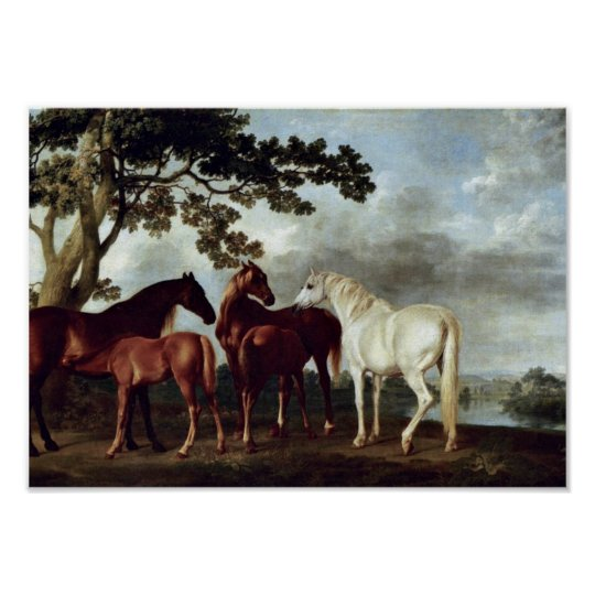 George Stubbs - Mares and Foals in a