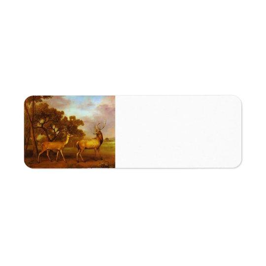 George Stubbs- Red Deer Stag and Hind
