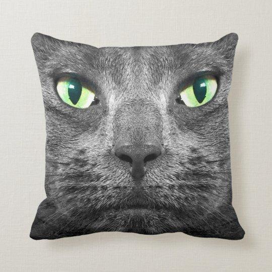 George super-real grey cat cushion