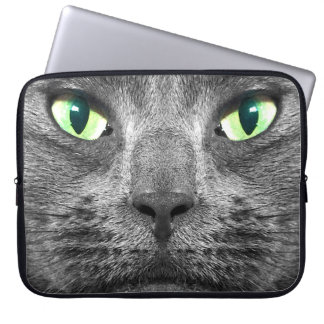 George super-real grey cat laptop sleeve