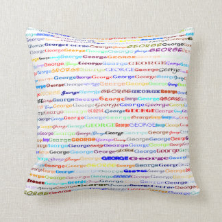 George Text Design II Throw Pillow