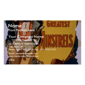 George Thatcher's Greatest Minstrels Retro Theater Pack Of Standard Business Cards