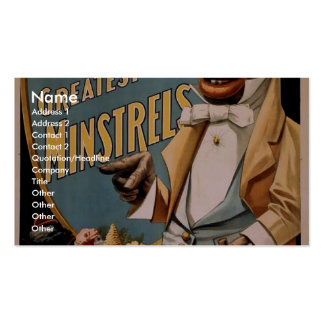 George Thatcher's Greatest Minstrels Vintage Theat Pack Of Standard Business Cards