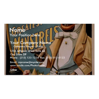George Thatcher's Greatest Minstrels Vintage Theat Business Card