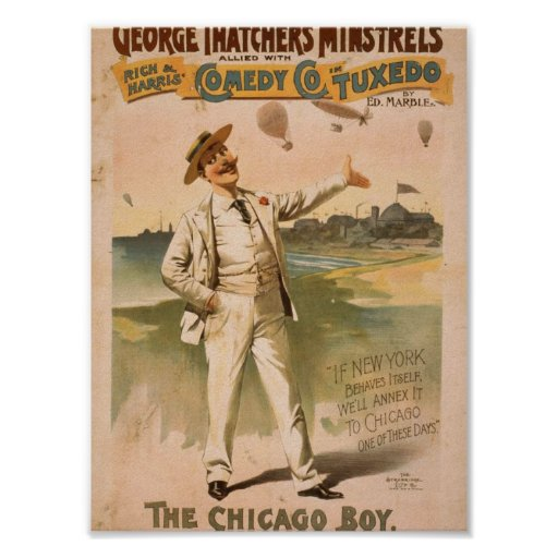 George Thatcher's Minstrels, 'The Chicago Boy' Poster