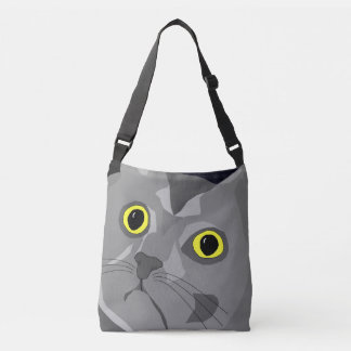 George the cat abstract bag design