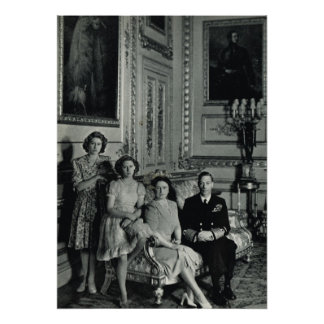 George VI, wife and princesses Poster
