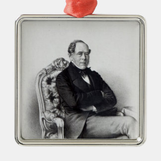 George Villiers, 4th Earl of Clarendon, 1856 Silver-Colored Square Decoration