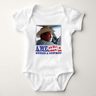 George W Bush - America Needs a Cowboy Baby Bodysuit