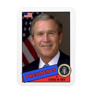 George W Bush Baseball Card Vinyl Magnet