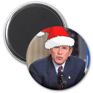 George W. Bush Christmas Humor 6 Cm Round Magnet