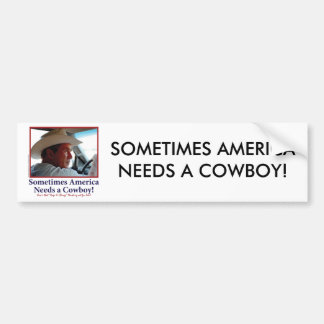 George W Bush in Cowboy Hat Bumper Sticker