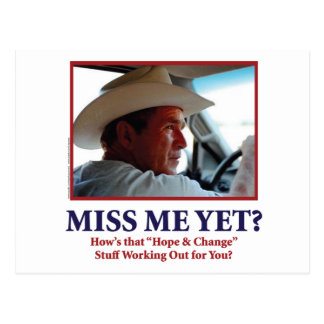 George W Bush - Miss Me Yet Postcard